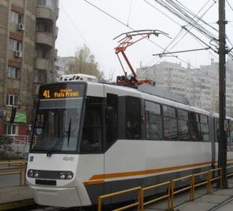 Circulatia tramvaielor de pe linia 41, suspendata duminica