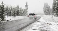 Circulatie ingreunata pe de DN1A din cauza viscolului si a ninsorii abundente