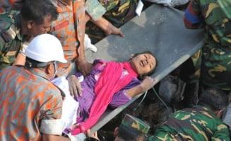 Cladire prabusita in Bangladesh: O femeie a fost gasita vie dupa 17 zile de stat printre daramaturi