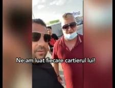 Clanul Sadoveanu ameninta in fata unui magazin Carrefour
