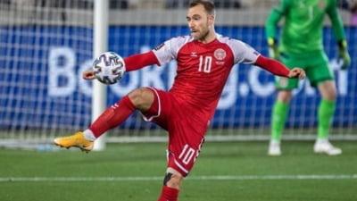 Clipe dramatice la Euro 2020. Un super-jucator s-a prabusit pe teren si a fost resuscitat. Meciul Danemarca - Finlanda a fost suspendat FOTO