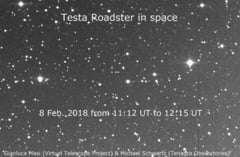 Clipul zilei: Masina lui Elon Musk a fost fotografiata de astronomi