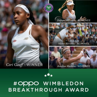 Coco Gauff, invinsa de Simona Halep la Wimbledon, a primit o distinctie importanta din partea All England Club