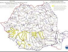 Cod galben de inundatii in sudul si vestul tarii