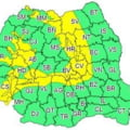 Cod galben de ploi si ninsori in cea mai mare parte a Moldovei si in Transilvania
