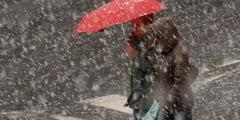 Cod portocaliu de ploi, lapovita si ninsoare in judetul Sibiu