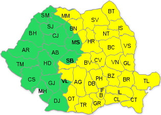 Codul galben de ninsori a fost prelungit. Luni ar putea ninge in Bucuresti (Video)