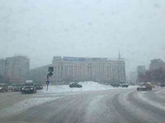Codul portocaliu de ninsori valabil inclusiv in Bucuresti intra azi in vigoare
