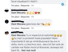 Comentarii critice pe pagina lui Dani Mocanu