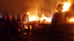 Complexul Keops din Petrosani, devastat de un puternic incendiu