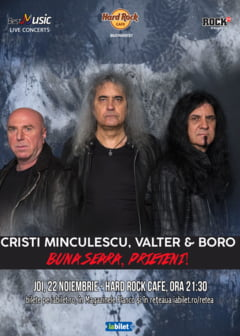 "Concert ""Buna seara, prieteni"" (Cristi Minculescu, Valter & Boro) la Hard Rock Cafe"