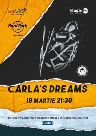 Concert Carla's Dreams la Hard Rock Cafe pe 19 martie