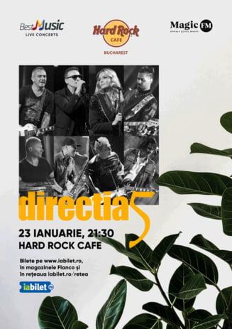 Concert Directia 5 la Hard Rock Cafe pe 23 ianuarie