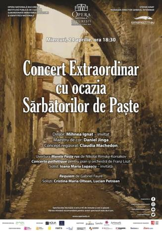 Concert Extraordinar cu ocazia Sarbatorilor de Paste pe scena Operei Nationale Bucuresti