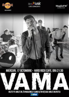 Concert Vama, miercuri seara, in Hard Rock Cafe