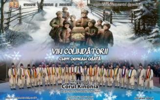 """Concert de colinde al Corului Kinonia la Sala Mare a Palatului Culturii """"Teodor Costescu"""""""