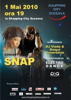 Concert extraordinar SNAP, la Shopping City Suceava!