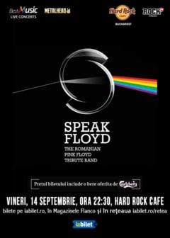 Concert tribut Pink Floyd cu Speak Floyd pe 14 septembrie la Hard Rock Cafe