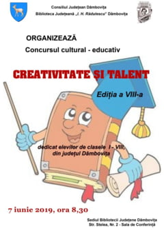 """Concursul """"Creativitate si talent"""" isi desfasoara finala. Participa mai multe scoli din judet"""