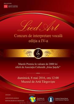 """Concursul National de Interpretare """"LIED ART"""", editia a IV-a, la Targoviste"""