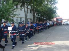 Concursul pompierilor voluntari si-a desemnat castigatorii