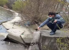 Conducta care deverseaza apa direct in Lacul Morii, descoperita de seful Garzii Nationale de Mediu VIDEO