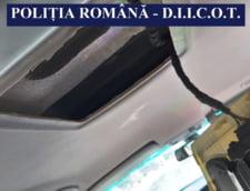 Constanta: Droguri ascunse in plafonul unei masini, pe Autostrada A2. Un barbat a fost retinut