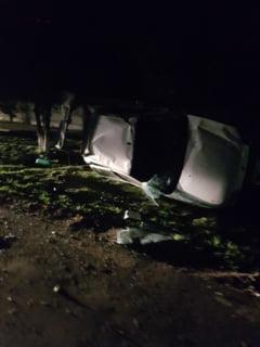 Constanta: o masina s-a rasturnat, soferul vinovat a FUGIT de la fata locului
