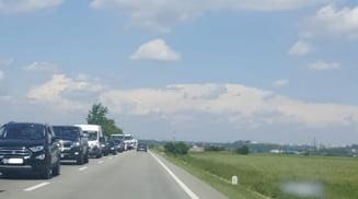 Continua asfaltarea DN 65 - E 574, intre Bals si Slatina. Trafic restrictionat pe un singur sens
