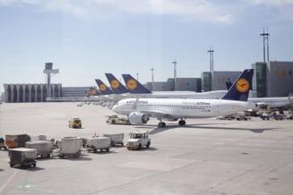 Continua greva de la Lufthansa: Peste 900 de zboruri de joi au fost anulate