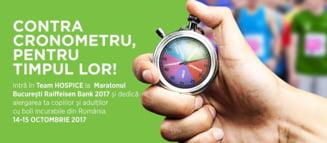 Contra cronometru pentru timpul lor! Aproape 600 de alergatori vor lua startul in Team HOSPICE la Maratonul Bucuresti