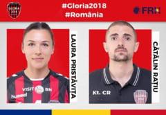 Coordonatorul de joc si fizioterapeutul echipei de handbal Gloria 2018, la Campionatul mondial din Japonia