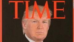 Coperta a revistei Time, trucata cu imaginea lui Trump si afisata in cluburile de golf ale presedintelui SUA