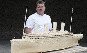 Copie a Titanicului, din 147.000 de bete de chibrit
