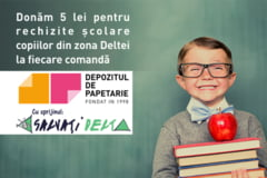 Copiii din Delta primesc rechizite gratuit