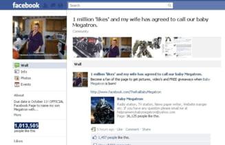 Copil botezat Megatron, cu ajutorul Facebook