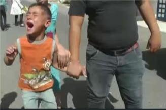 Copil de 5 ani, retinut dupa ce aruncat o piatra (Video)