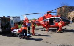 Copilul ranit pe terenul de fotbal de la Corbu, dus cu elicopterul la Fundeni