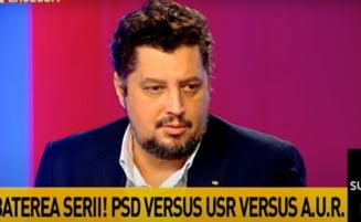 """Copresedintele AUR, despre realizatorul TV Mihai Gadea: """"Inconstientul rujat, vopsit si pomadat ca o cocota masculina"""""""