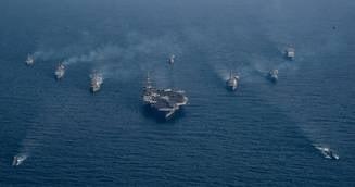 Coreea de Nord anunta ca e pregatita sa scufunde cu o singura lovitura portavionul USS Carl Vinson