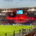 Coregrafie spectaculoasă la primul meci al CSA Steaua pe stadionul din Ghencea VIDEO