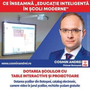 """Cosmin Andrei: """"Elevii si profesorii din Botosani merita mai mult! Avem nevoie de Programul Educatie Inteligenta in Scoli Moderne"""""""