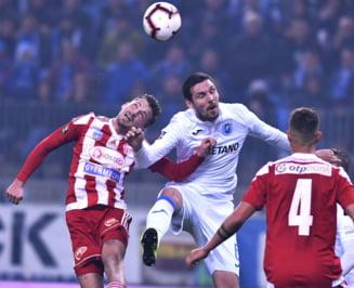 Craiova invinge Sepsi si ajunge la un punct de liderul CFR Cluj