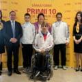 Cristi Chivu, Andreea Berecleanu si Carmen Bruma, la DHL Stafeta Carpatilor