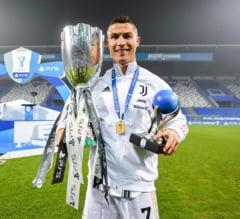 Cristiano Ronaldo, cel mai bun marcator din istorie. Golul din Supercupa Italiei l-a facut sa fie primul in lume