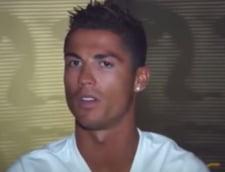 Cristiano Ronaldo a rabufnit in timpul unui interviu si a injurat (Video)