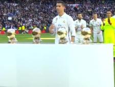 Cristiano Ronaldo si-a prezentat oficial al patrulea Balon de Aur (Video)