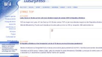 Criza financiara a inchis agentia de presa BASA-press