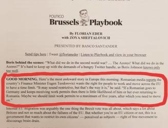 Cum a ajuns Teodorovici in buletinul informativ al Politico: Cea mai jenanta veste vine din Romania