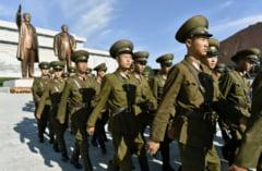 Cum a celebrat Coreea de Nord 70 de ani de dictatura: Cantece, dans si bombe americane
